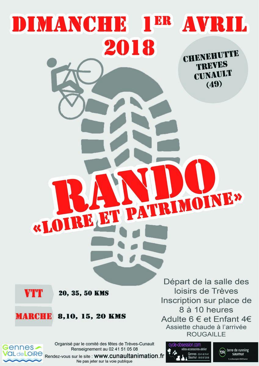 Rando Loire et Patrimoine @ Salle des Loisirs de Trèves | Chênehutte-Trèves-Cunault | Pays de la Loire | France